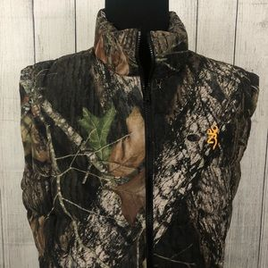 Browning XL Camo Goose Down Reversible Puffer Vest